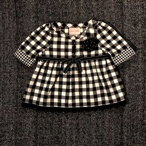 🎆sale🎆Gingham black and white dress size 12m